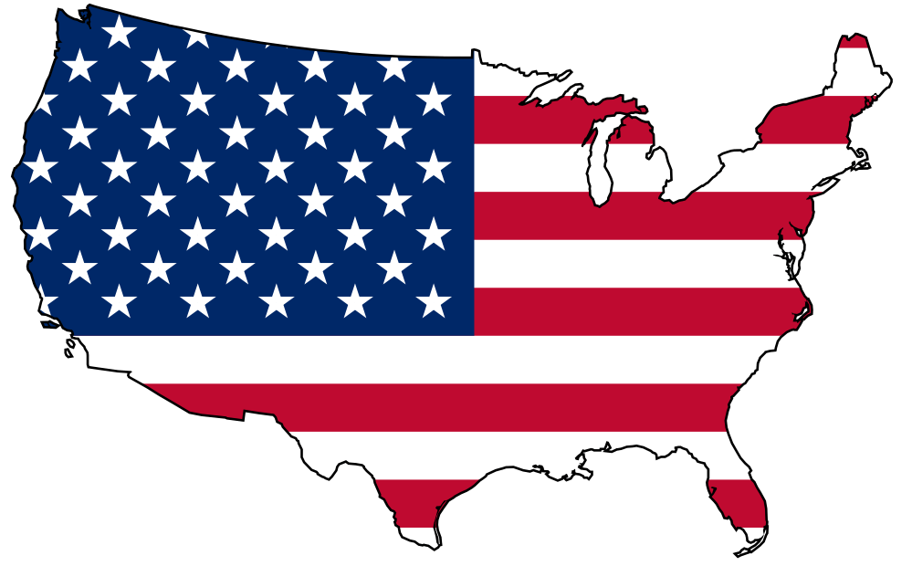 Flag With United States Map Clipart Keep Your Daydream
